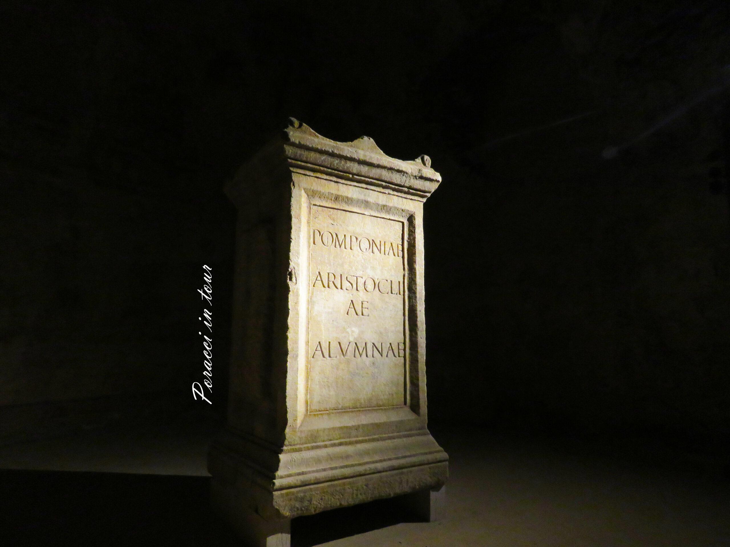 stele romana ipogeo di Santa Maria in Stelle