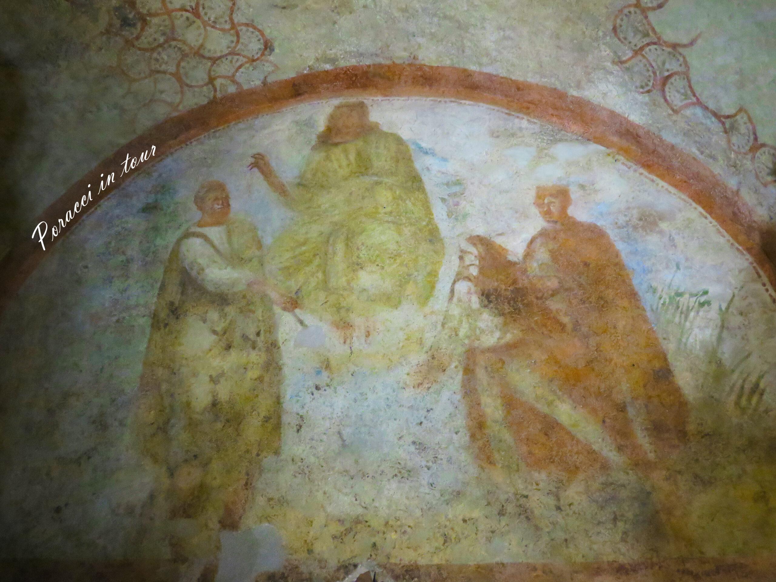 affresco Cristo benedicente ipogeo di Santa Maria in Stelle